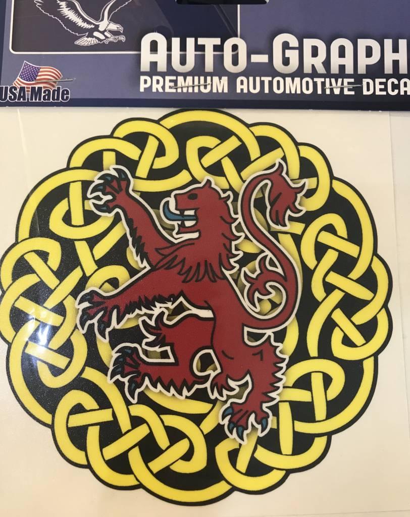 Sticker: Celtic Circle, Red Lion