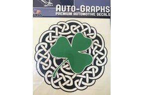Sticker: Celtic Circle, Green Shamrock