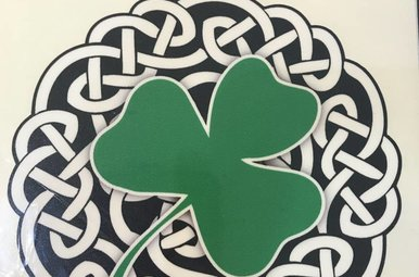 Sticker: Celtic Circle, Green Shamrock