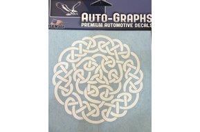 Sticker: Celtic Circle, White