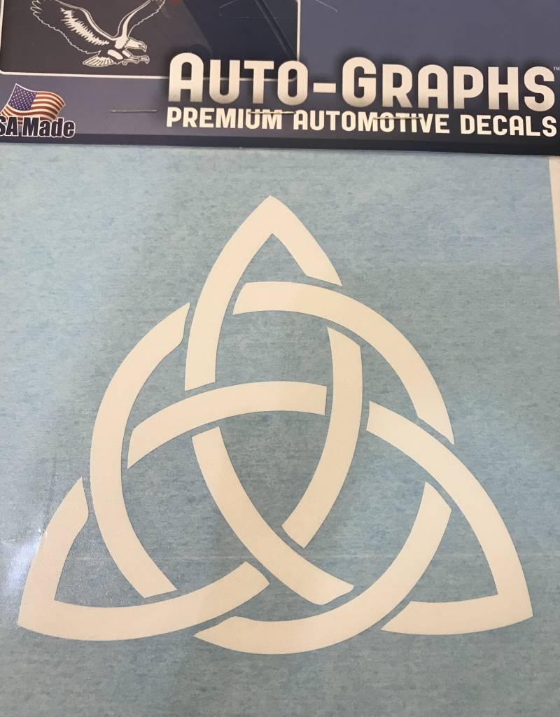Sticker: Trinity Knot, White