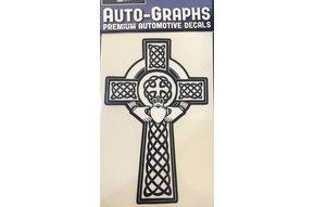 Sticker: Celtic Cross, Claddagh