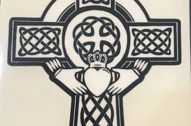 Sticker: Celtic Cross, Claddagh