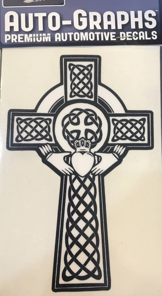 Sticker Celtic Cross Claddagh Celtic Heritage