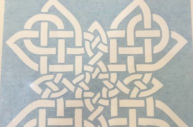 Sticker: Celtic Cross, White