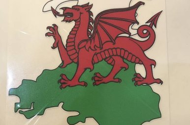 Sticker: Flag Country, Outline, Wales