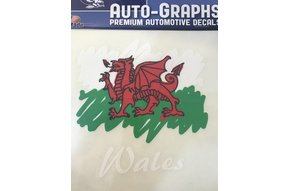 Sticker: Scribble Flag, Wales