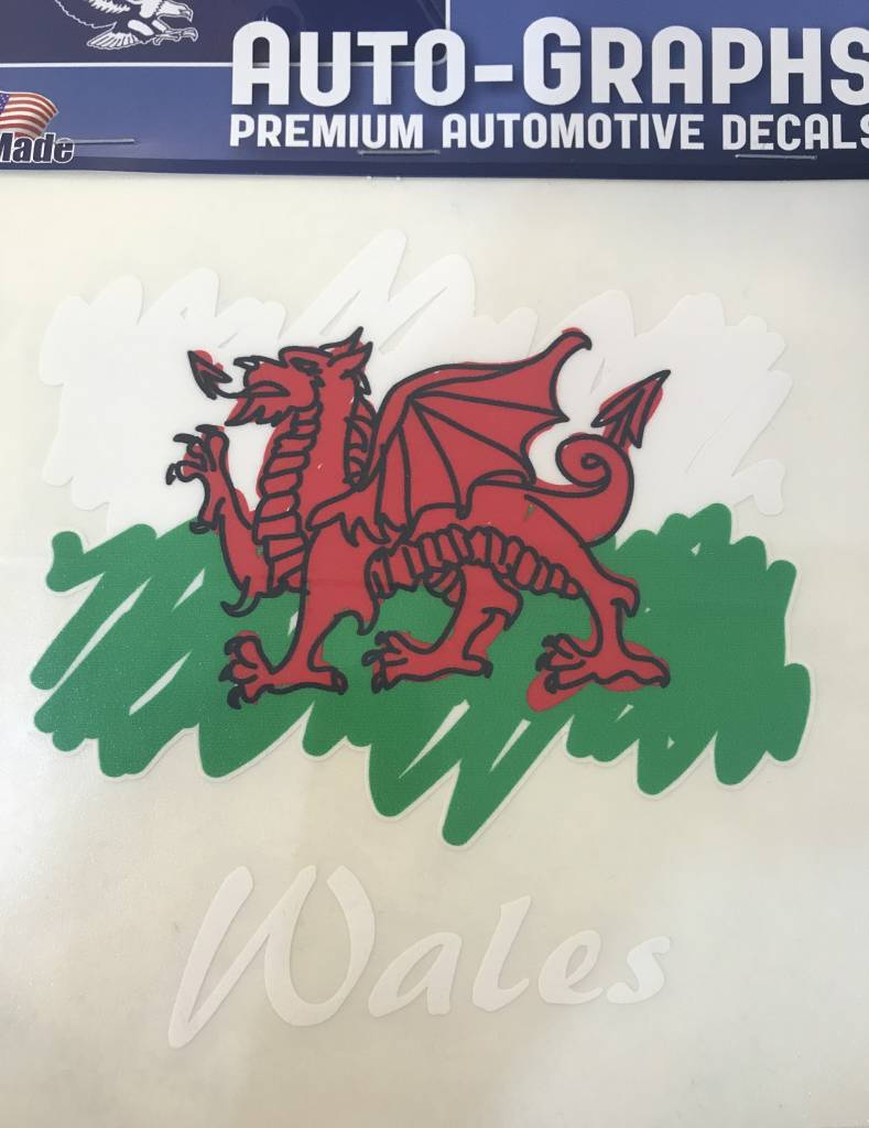 Sticker: Scribble Flag, Wales