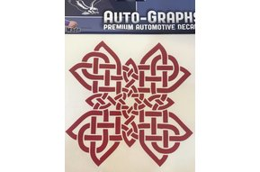 Sticker: Celtic Cross, Red