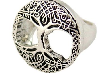 Ring: Tree of Life, Adjustable Pewter