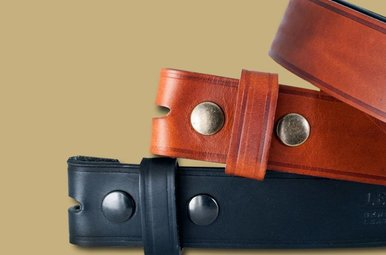 Belt: Snap On Leather