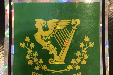 "Decal: Vinyl Reflective Erin Go Bragh 3""x4"""
