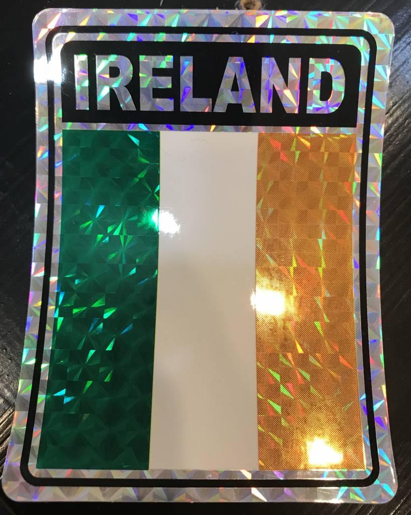 """Decal: Vinyl Reflective Ireland 3""""x4"""""""