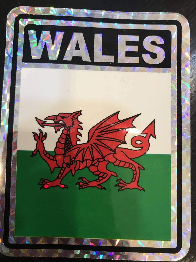 "Decal: Vinyl Reflective Wales 3""x4"""