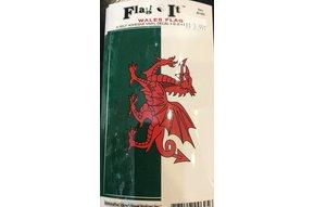 "Decal: Vinyl Wales Flag 3.5""x5"""