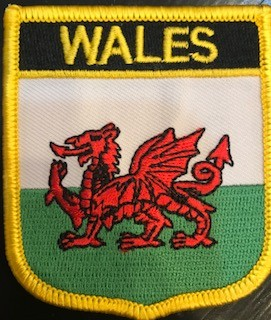 Patch: Wales Flag Shield