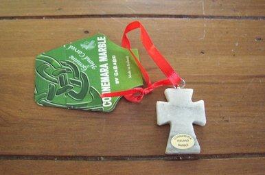 Ornament: Connemara Marble Cross