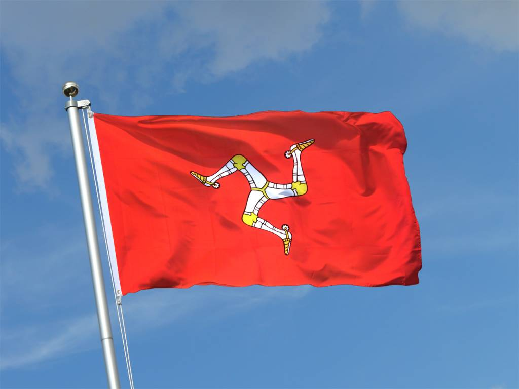 Flag: Isle of Man, Poly 3x5