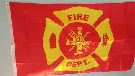 Flag: Fire Dept, Poly 3x5