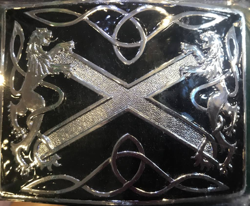 Glen Esk Buckle: Highland Saltire Black