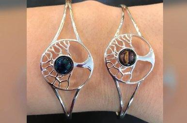Bracelet: Heathergems Tree of Life Bangle