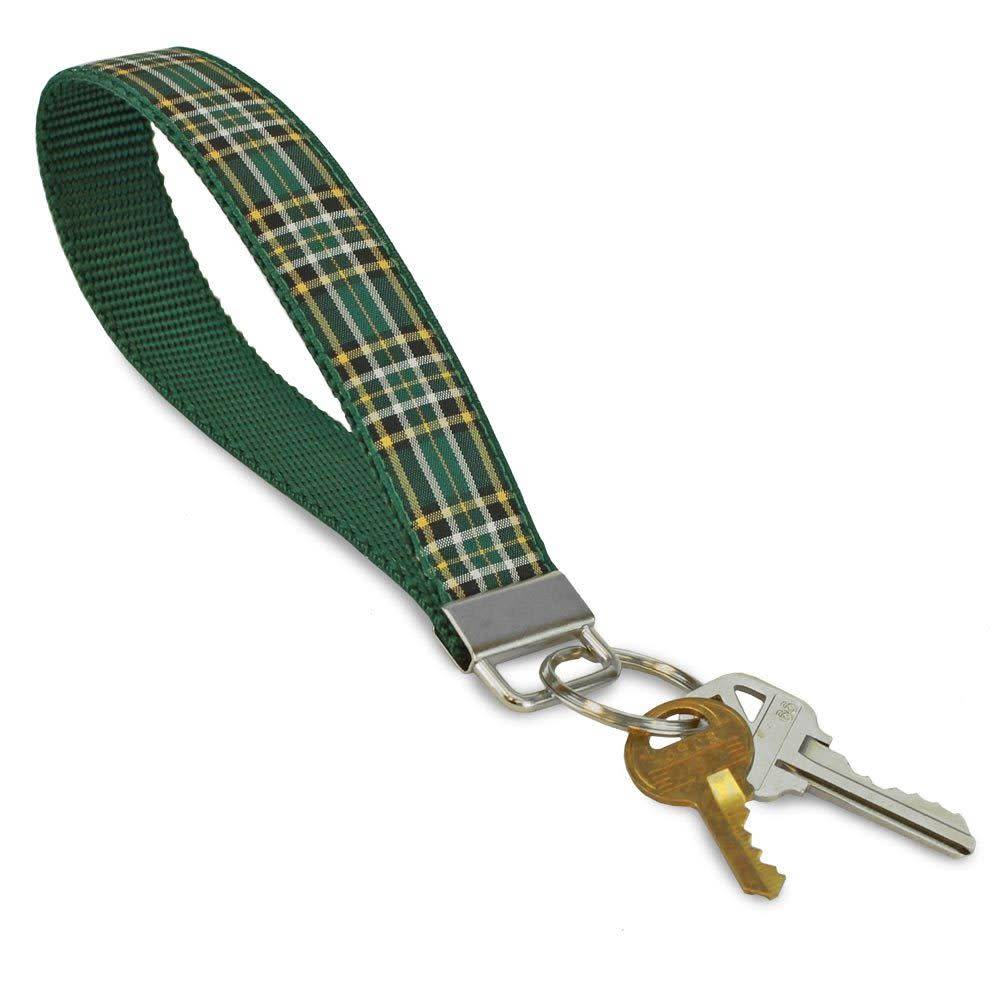 Key Chain: Plaid Wristlet