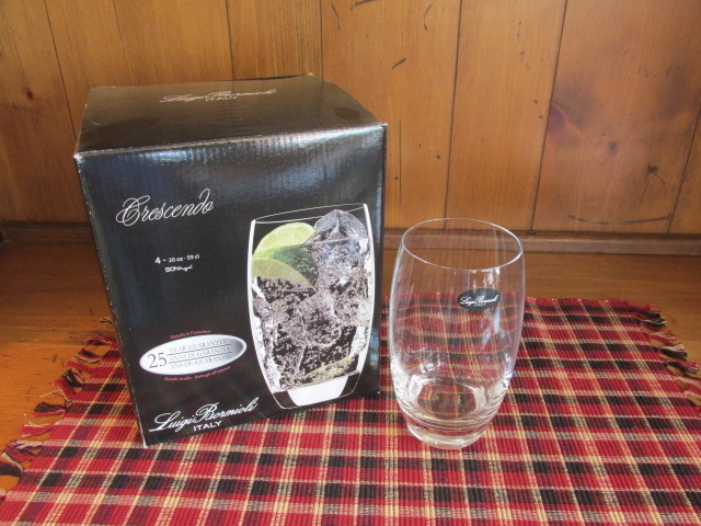 BORMIO 20 0Z GLASSWAREE SET OF 4