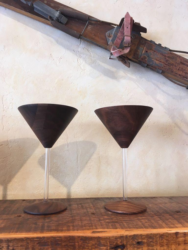 RASMU Wood Martini Glass