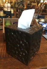 JANB Hammered Iron Tissue Box