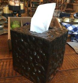 JANB Hammered Iron Tissue Box