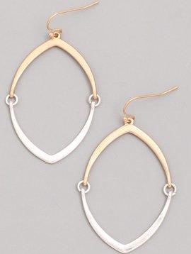 Pointed Hoop Dangle Earrings