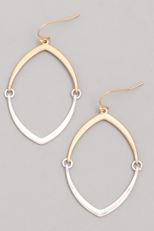 GCB Pointed Hoop Dangle Earrings