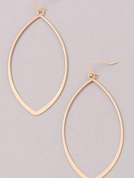 Oval Shaped Gold Earrings