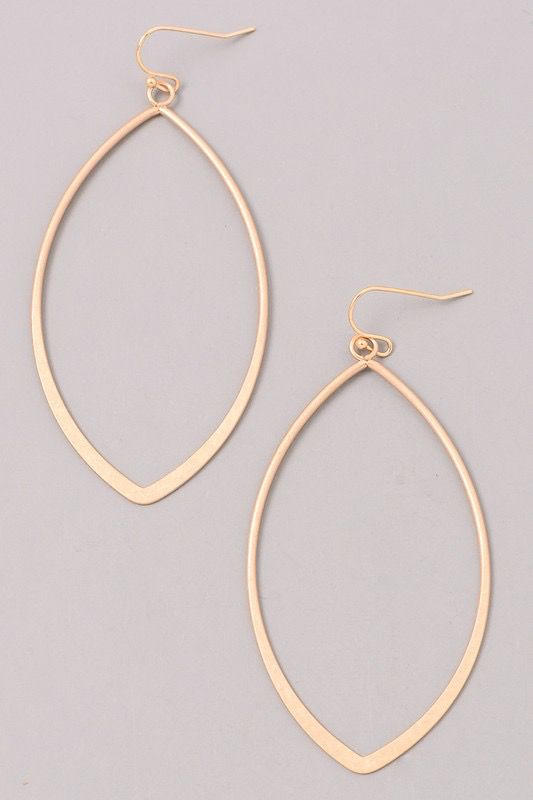Oval Shaped Gold Earrings