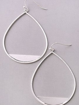 GCB Matte Silver Teardrop Earrings