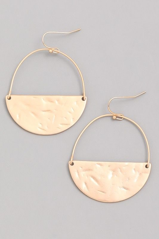 GCB Circumference Gold Matte Earrings