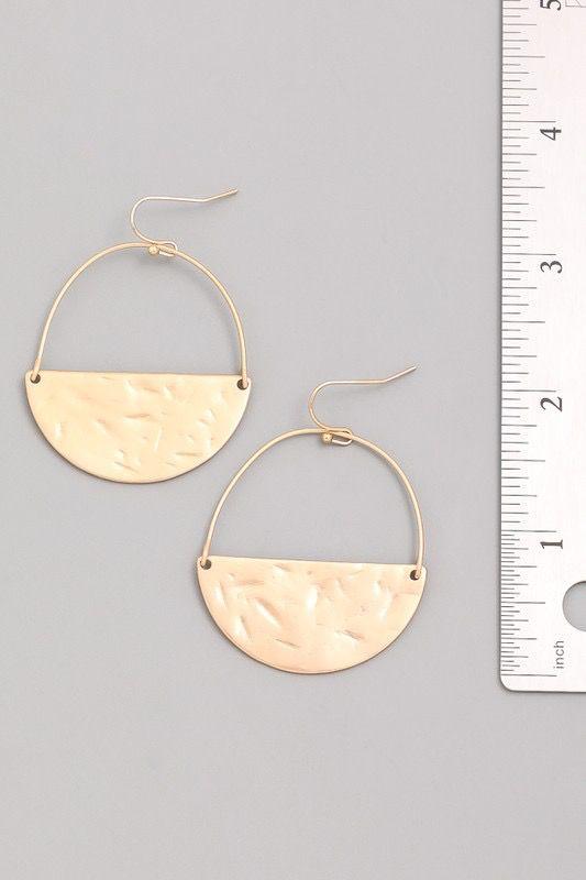 Circumference Gold Matte Earrings