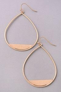 GCB Matte Teardrop Dangle Earrings