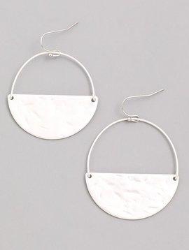 Circumference Silver Matte Earrings