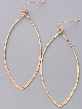 Hammered Cutout Gold Earrings