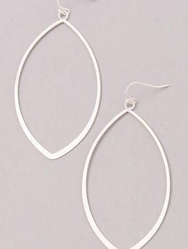 Oval Shaped Silver Earrings