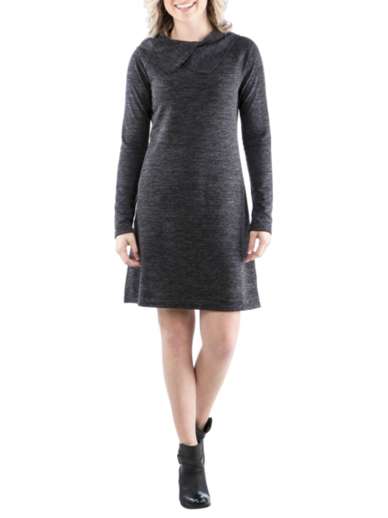 Neesha Double Cowl Dress