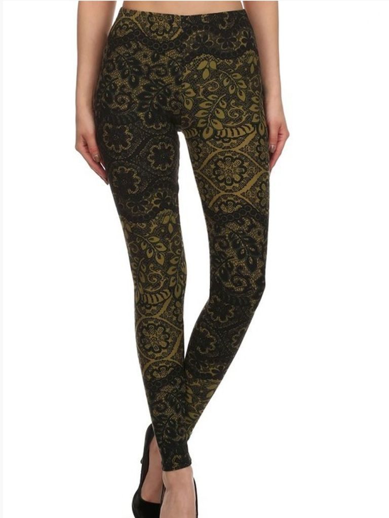 GCBLove Olive Tree Lace Legging