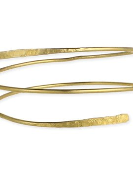 Zad Gold Hammered Wrap Armband