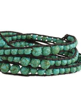 Turquoise Bead Wrap Bracelet