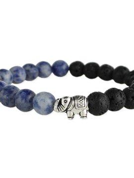 Zad Elephant Lava Bead Diffuser Bracelet