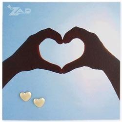 Zad Gold Heart Post Earring
