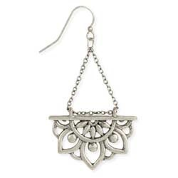 Zad Rising Lotus Dangle Earrings