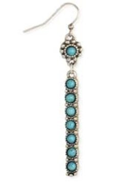 Zad Silver Turquoise Bar Earrings