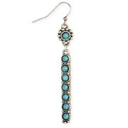 Zad Silver Turquoise Bar Earrings